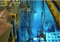 relevé scanner en fond de piscine nucléaire
