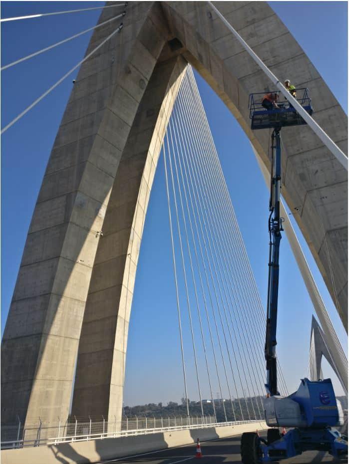 équipes SIXENSE SHM sur le pont Mohamed VI au Maroc