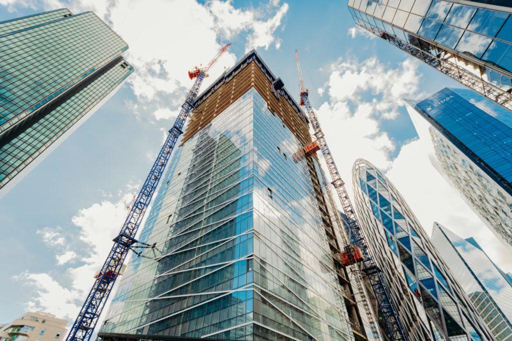 la Tour Saint Gobain en construction - La Défense France