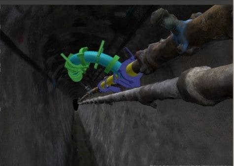 modèle 3D avec clash