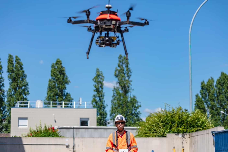 relevé par drone