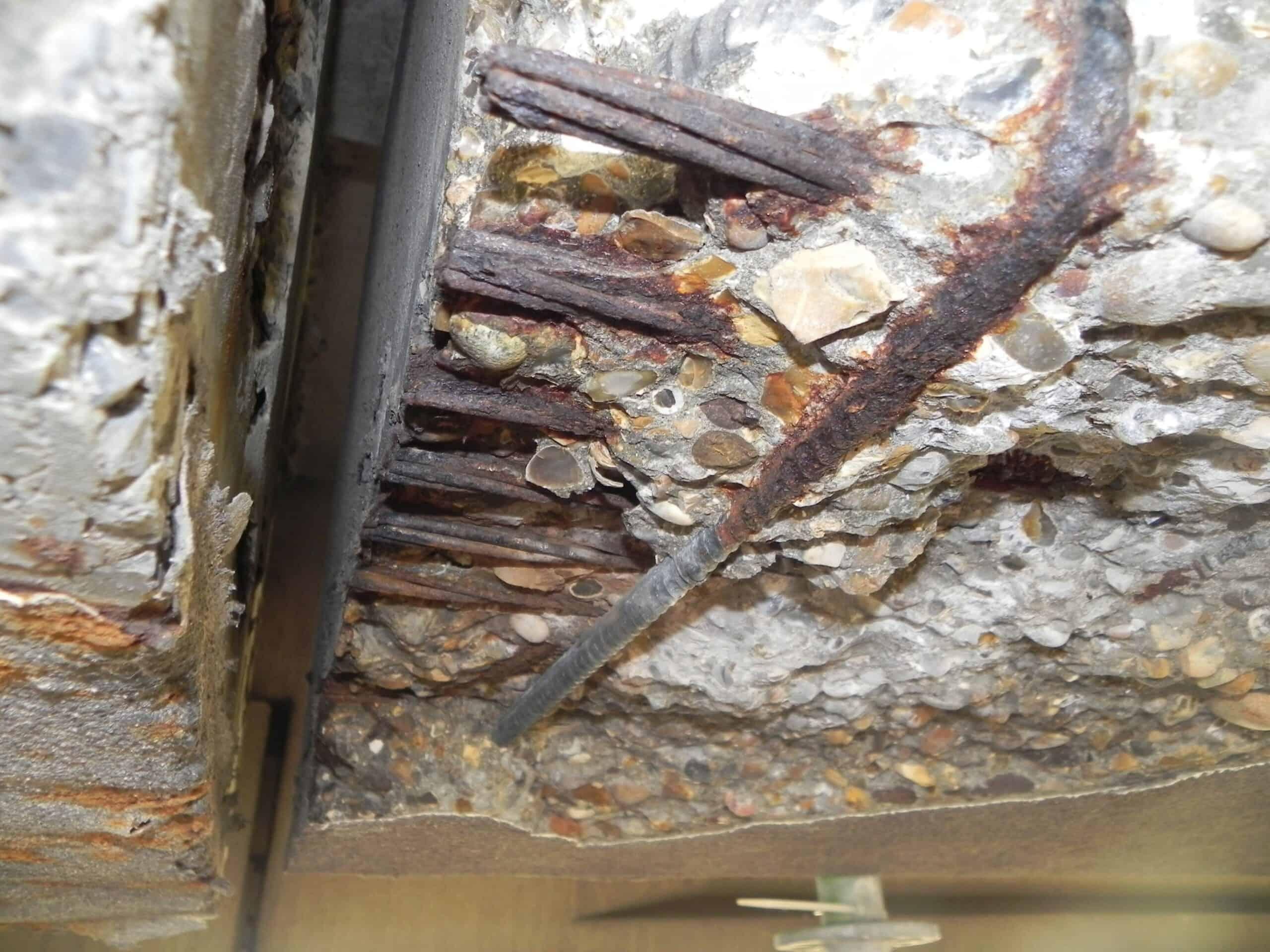 corrosion sur joint de pont