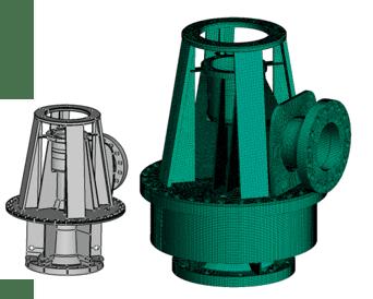 Etude de la modification de la tête de pompe de reprise de purge ACO de Gravelines 5 Tenue aux charges de pression, thermique, sismique de tous les éléments mécaniques et ancrages